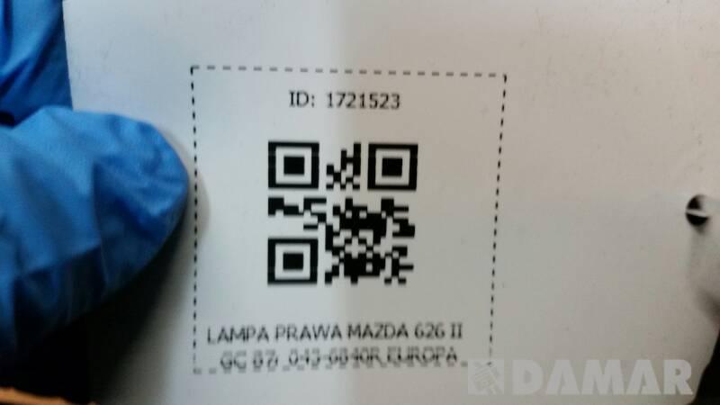 043-6840R  LAMPA PRAWA MAZDA 626 II GC 87r EUROPA