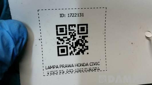 043-126 LAMPA PRAWA HONDA CIVIC V EK3 HB 95r