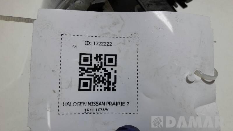 HALOGEN NISSAN PRAIRIE 2151L LEWY
