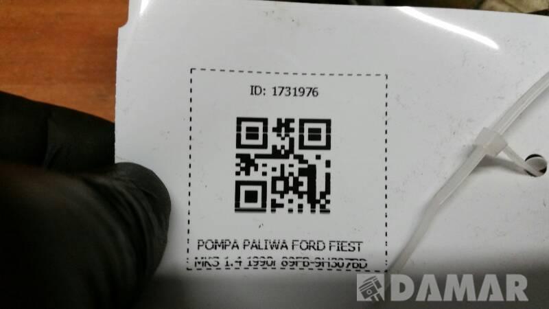 89FB-9H307BD POMPA PALIWA FORD FIEST MK3 1.4 1990r