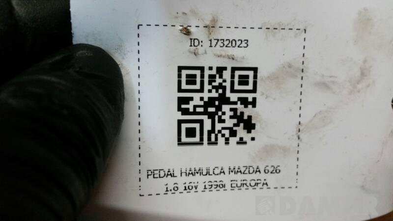 PEDAL HAMULCA MAZDA 626 1.8 16V 1998r EUROPA