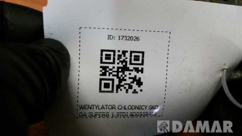 8D0959455R WENTYLATOR CHLODNICY SKODA SUPERB 1.9