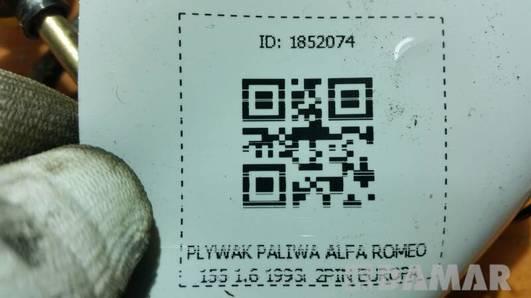 PLYWAK PALIWA ALFA ROMEO 155 1.6 1993r 2PIN EUROPA