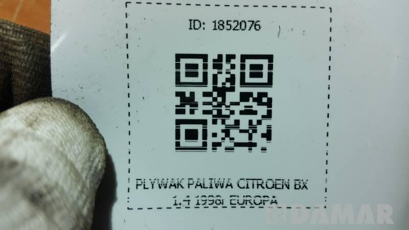 PLYWAK PALIWA CITROEN BX 1.4 1998r EUROPA