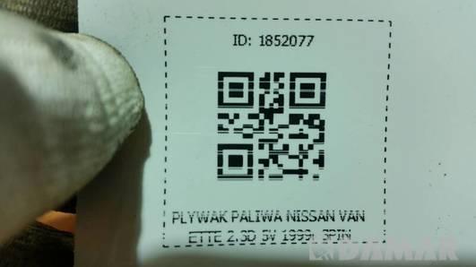 PLYWAK PALIWA NISSAN VANETTE 2.3D 5V 1999r 3PIN