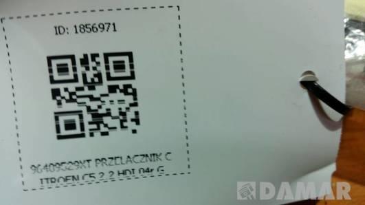 96409529XT PRZELACZNIK CITROEN C5 2.2 HDI 04r G