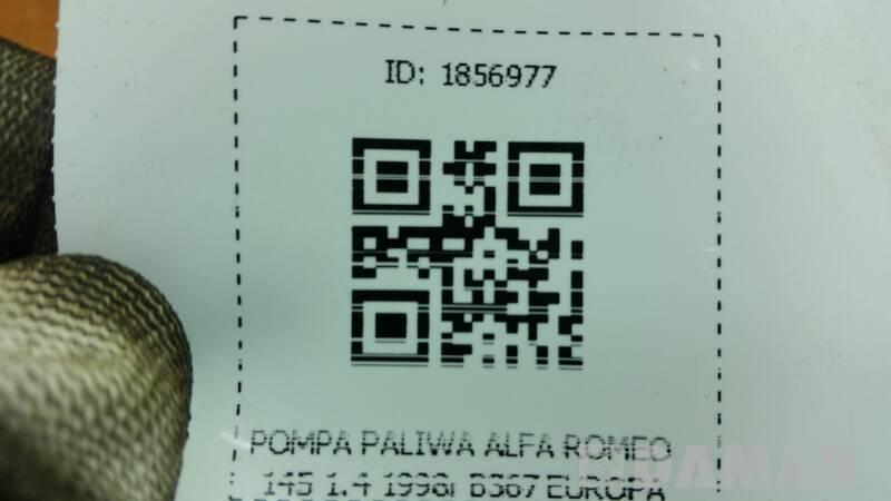 B367  POMPA PALIWA ALFA ROMEO 145 1.4 1998r EUROPA