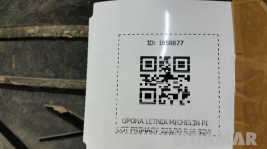 OPONA LETNIA MICHELIN PILOT PRIMACY 225/50 R16 92W