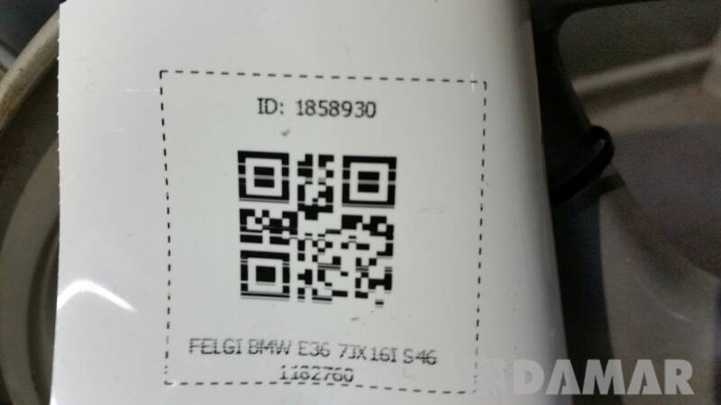 FELGA BMW E36 7JX16I S46 1182760