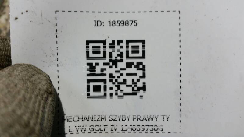 MECHANIZM SZYBY PRAWY TYL VW GOLF IV 1J4839730G