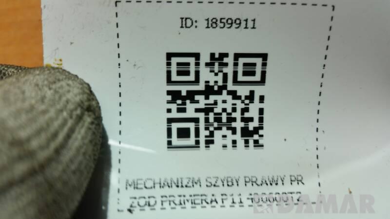 MECHANIZM SZYBY PRAWY PRZOD PRIMERA P11 400600T2