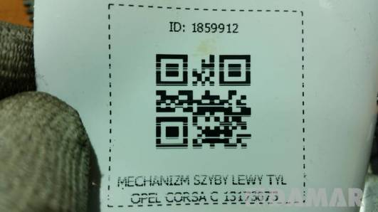 MECHANIZM SZYBY LEWY TYL OPEL CORSA C 13173073