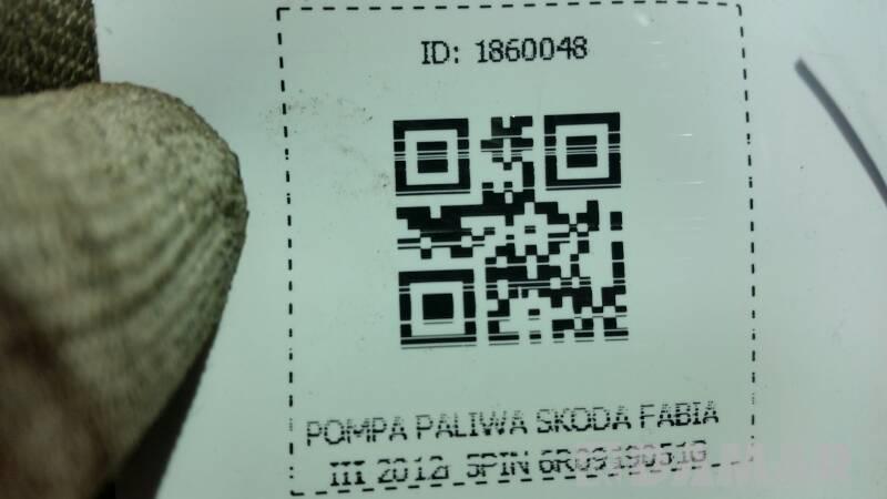 POMPA PALIWA SKODA FABIA III 2012r 5PIN 6R0919051G
