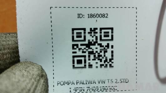 POMPA PALIWA VW T5 2.5TDI 4PIN 7H0919050C