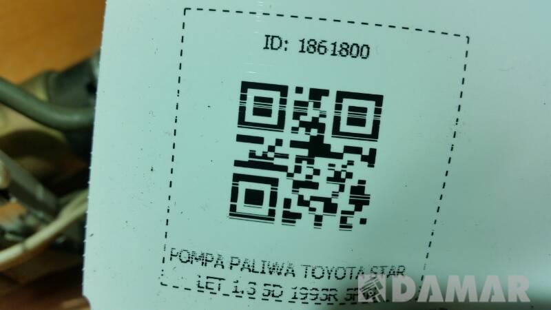 POMPA PALIWA TOYOTA STARLET 1.3 5D 1993R 5PIN