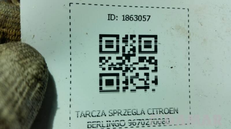 9670270080 TARCZA SPRZEGLA CITROEN BERLINGO