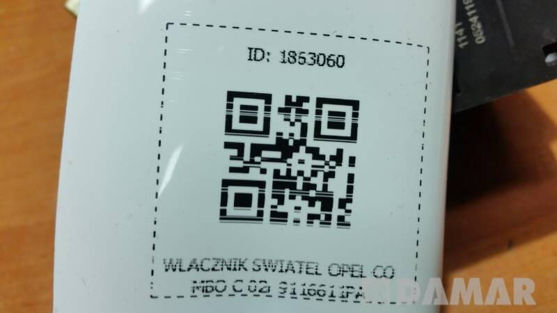 9116611PA WLACZNIK SWIATEL OPEL COMBO C 02r