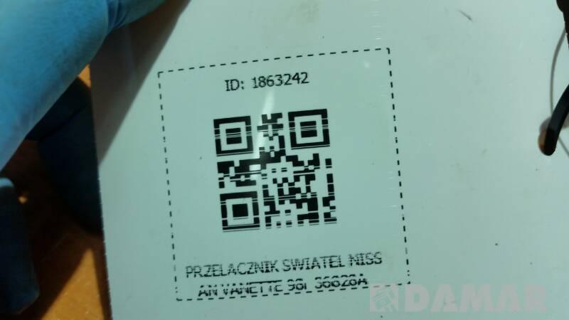 PRZELACZNIK SWIATEL NISSAN VANETTE 98r 36828A