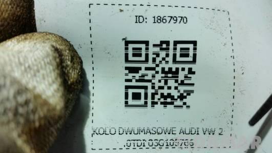 KOLO DWUMASOWE AUDI VW 2.0TDI 03G105766