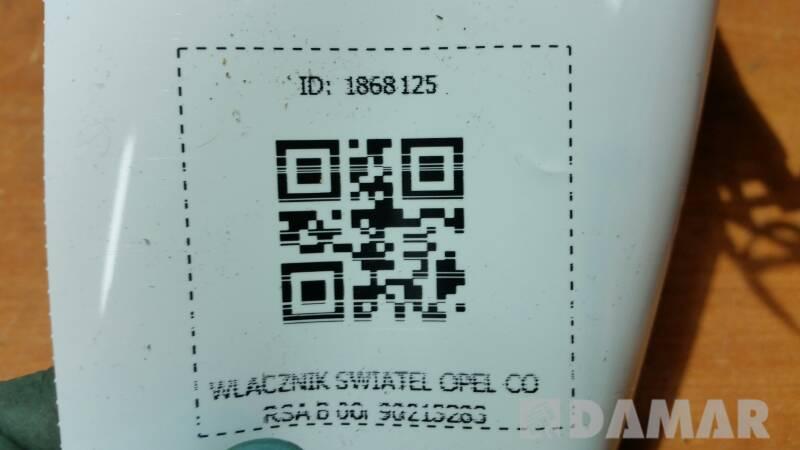 90213283 WLACZNIK SWIATEL OPEL CORSA B 00r