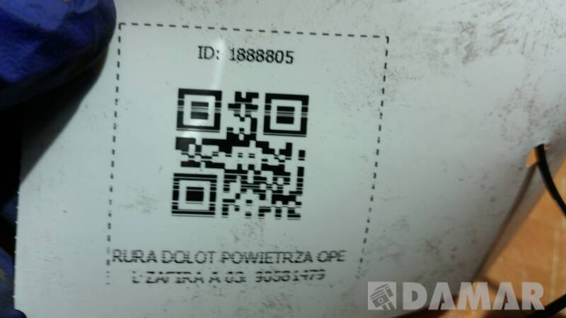 90581479 RURA DOLOT POWIETRZA OPEL ZAFIRA A 03r