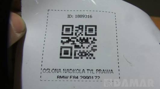 2990172 OSLONA NADKOLA TYL PRAWA BMW E84