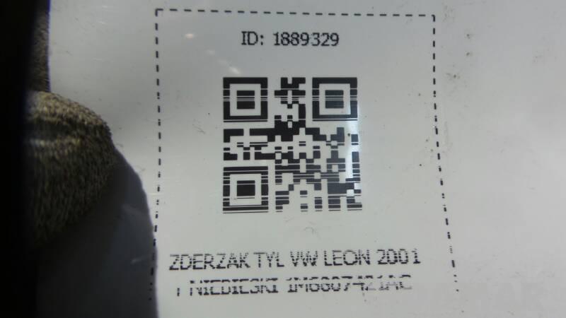 ZDERZAK TYL VW LEON 2001r NIEBIESKI 1M6807421AC