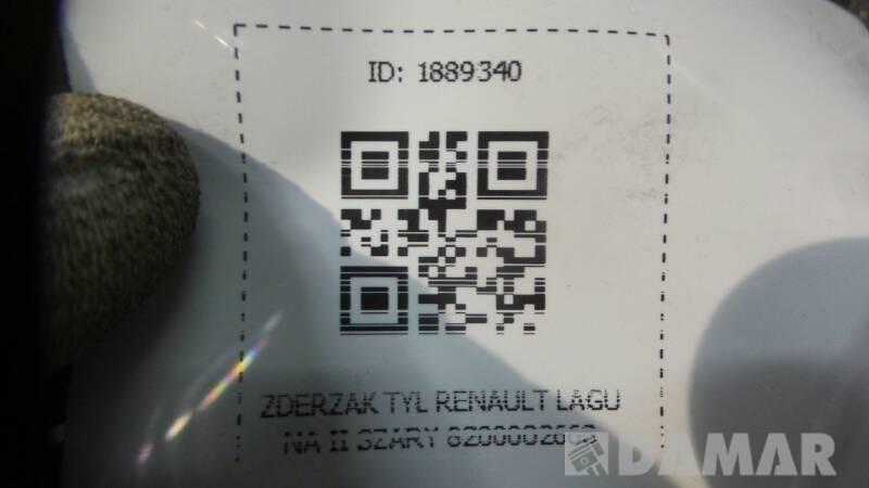 ZDERZAK TYL RENAULT LAGUNA II SZARY 8200002668