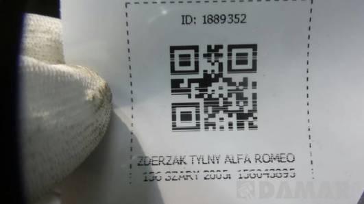 ZDERZAK TYLNY ALFA ROMEO 156 SZARY 2005r 156043695