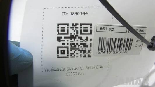1393393 WLACZNIK SWIATEL BMW E36