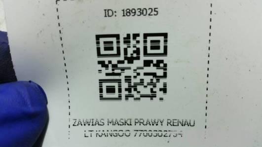 ZAWIAS MASKI PRAWY RENAULT KANGOO 7700302754