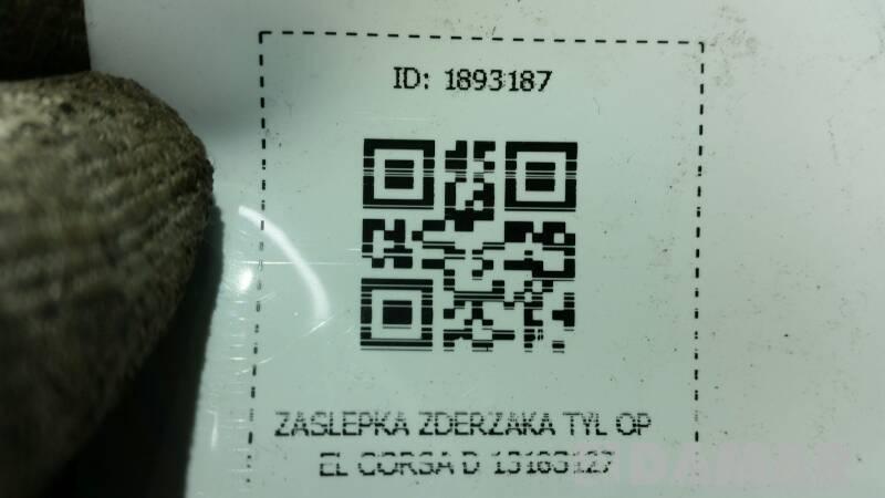 13183127 ZASLEPKA ZDERZAKA TYL OPEL CORSA D