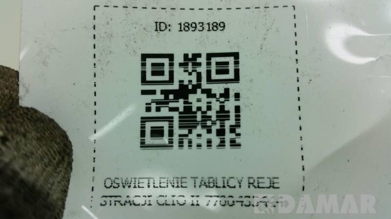 7700433414 OSWIETLENIE TABLICY REJESTRACJI CLIO II