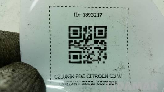687920A CZUJNIK PDC CITROEN C3 WISNIOWY 2002r