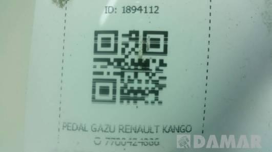 7700424886 PEDAL GAZU RENAULT KANGOO