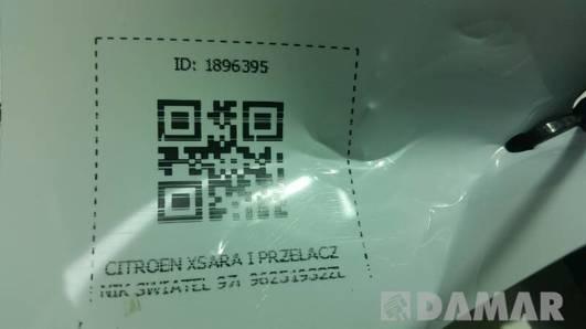 96251932ZL PRZELACZNIK SWIATEL CITROEN XSARA I