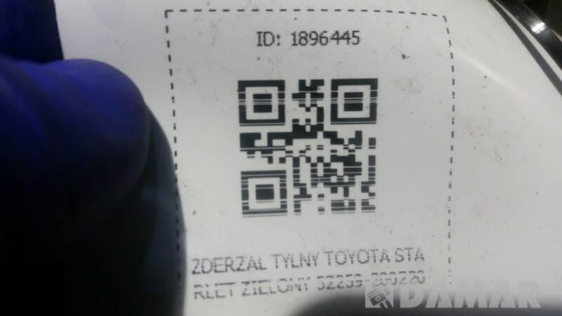 ZDERZAK TYLNY TOYOTA STARLET ZIELONY 52259-200220