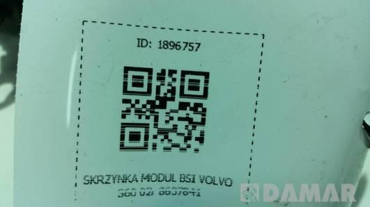 8637841 SKRZYNKA MODUL BSI VOLVO S60 02r