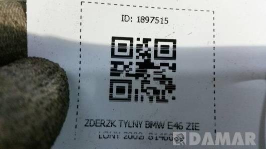 ZDERZK TYLNY BMW E46 ZIELONY 2002r 8146089