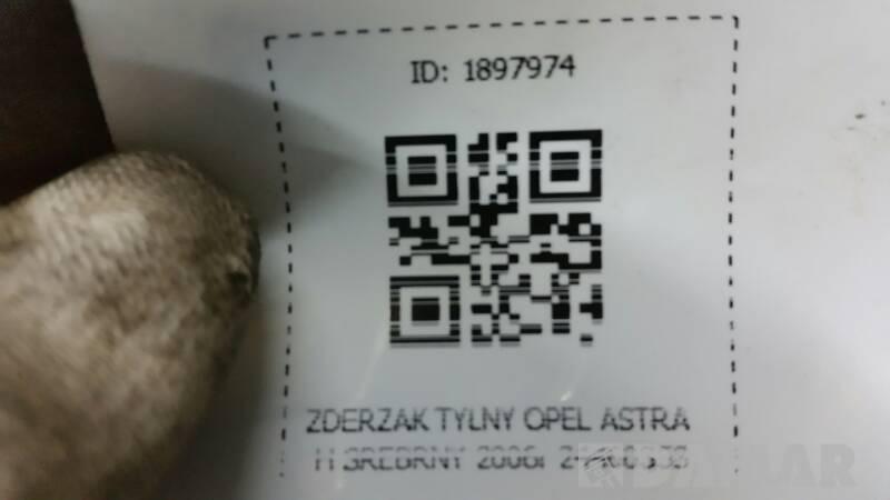 ZDERZAK TYLNY OPEL ASTRA H SREBRNY 2006r 24460353
