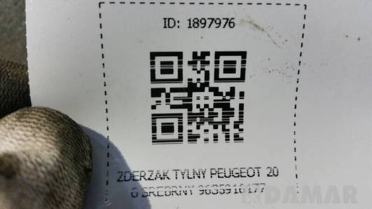 ZDERZAK TYLNY PEUGEOT 206 SREBRNY 9635916177
