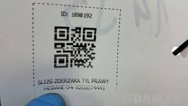 SLIZG ZDERZAKA TYL PRAWY MEGANE 04r 8200074441