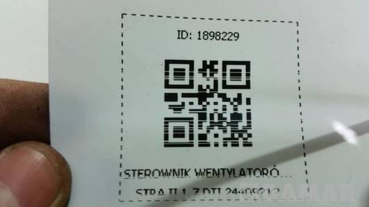 STEROWNIK WENTYLATORÓW ASTRA II 1.7 DTI 24409212
