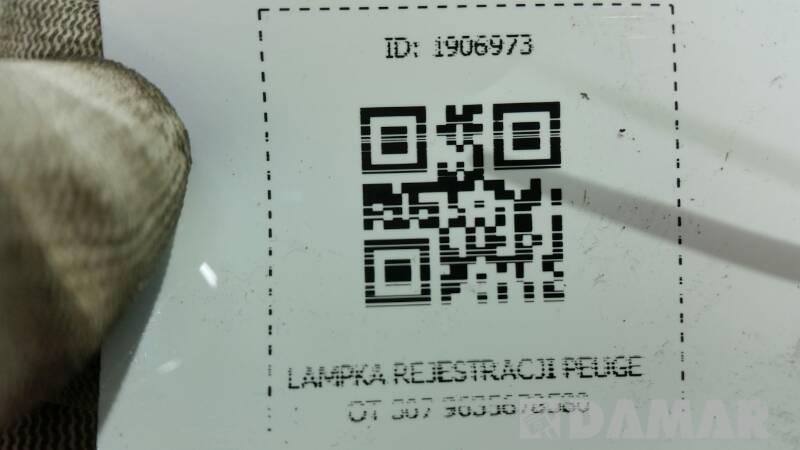 9635678580 LAMPKA REJESTRACJI PEUGEOT 307