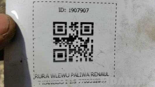 RURA WLEWU PALIWA RENAULT KANGOO I 1.9 7700312035