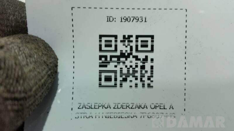 24460354 ZASLEPKA ZDERZAKA OPEL ASTRA H NIEBIESKA