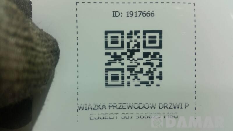 WIAZKA PRZEWODOW DRZWI PEUGEOT 307 9658294480