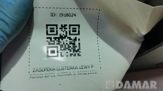 90521951 ZASLPEKA LUSTERKA LEWY PRZOD OPEL ASTRA G