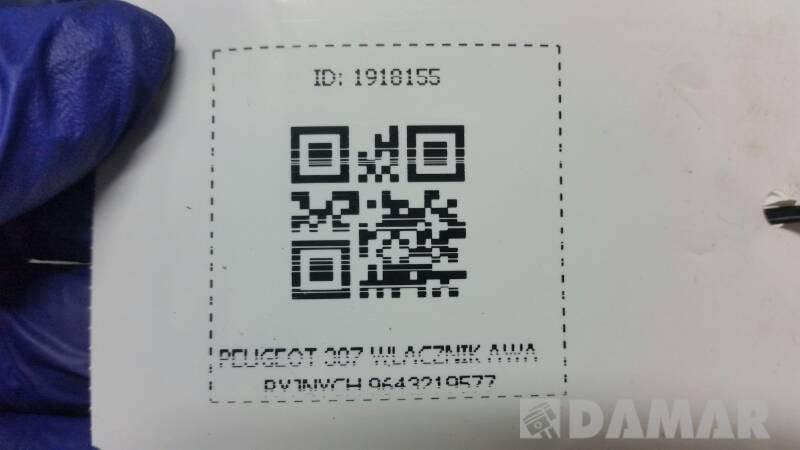 9643219577 WLACZNIK AWARYJNYCH  PEUGEOT 307