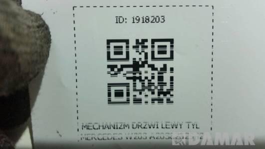 A2038202942 MECHANIZM DRZWI LEWY TYL MERCEDES W203